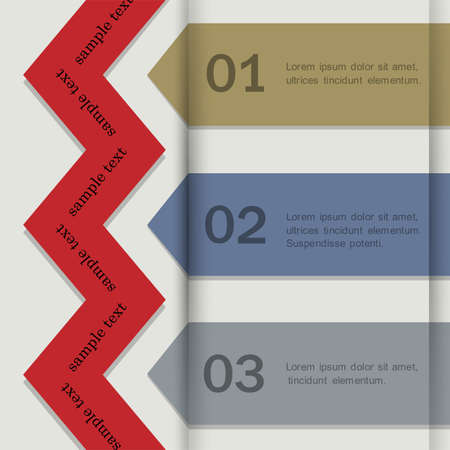 Paper banners for Infographics. Vector EPS10  Vector