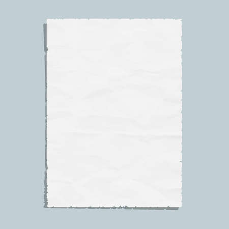 Empty white paper sheet Stock Vector - 20383236