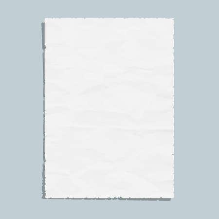 a4:  Empty white paper sheet Illustration
