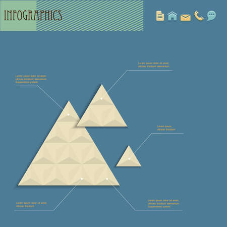 Geometric design template for infographics Vector