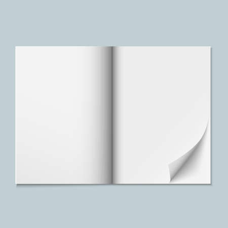 mag: Magazine template with blank pages Illustration