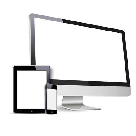 Set of Modern Digitale Geräte Standard-Bild - 20383272