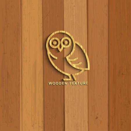 furnier: Holz-Eule Illustration