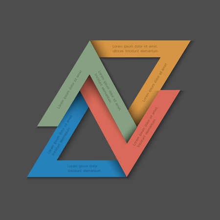 Minimalistic background with paper triangles. Vector EPS10 Vector