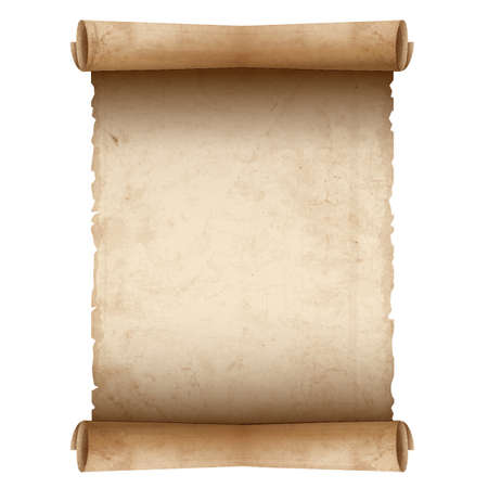 오래 된 스크롤 종이