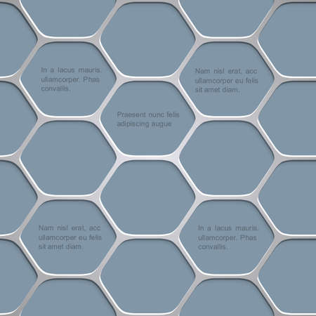six web website: Abstract honeycomb pattern background