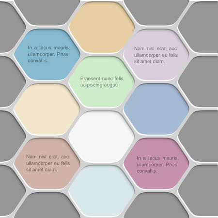 six web website: Colored honeycomb pattern background   Illustration