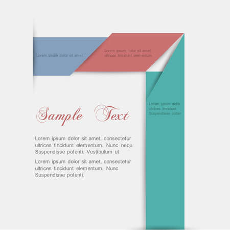 minimalista: Minimalista stílusú - papír háttér kialakítása Illusztráció