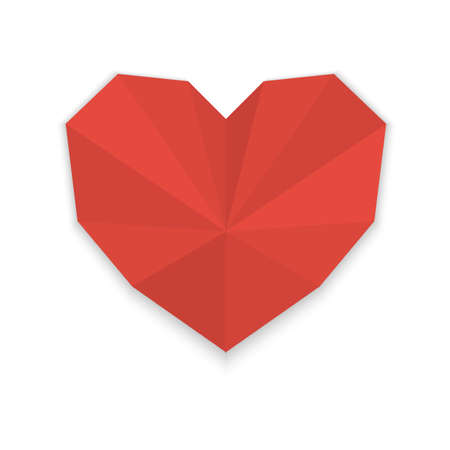 Origami heart  Illustration Stock Vector - 21132065