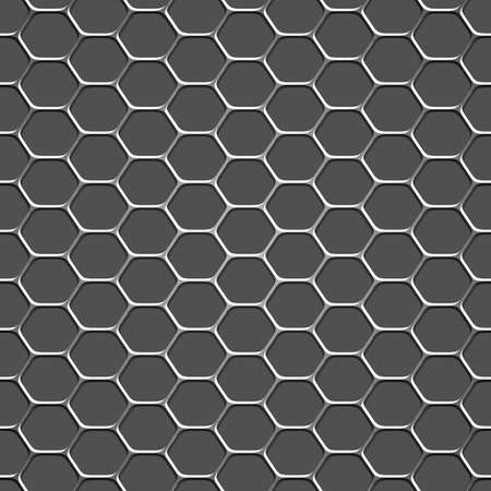 hexahedron: 3d monochromatic honeycomb pattern background.