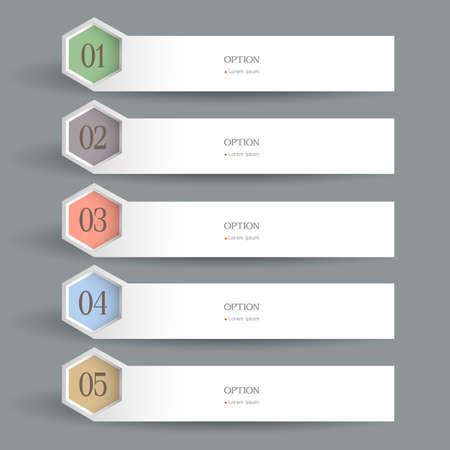 White horizontal Design template. Vector website layout
