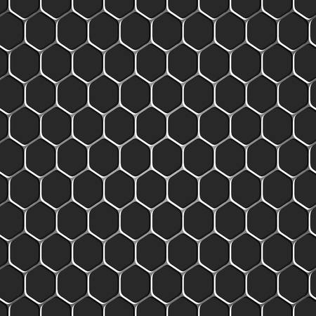Monochromatic honeycomb seamless pattern background  Vector EPS10  Stock Vector - 21397091