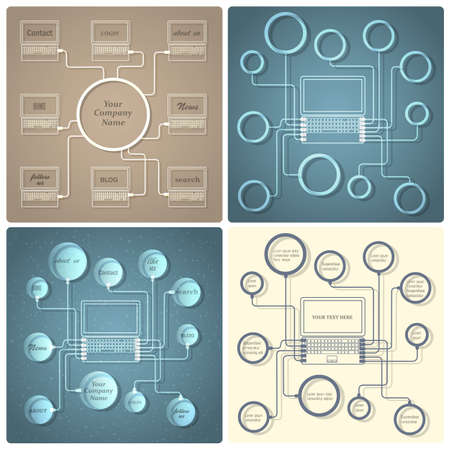Set of vector creative web design templates Stock Vector - 21397099