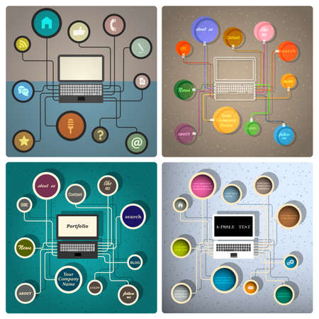 Vector set of creative web design templates Stock Vector - 21397110