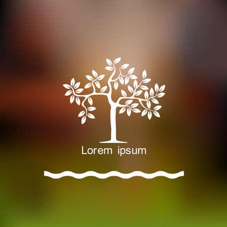 Stylized tree  Vector background  イラスト・ベクター素材