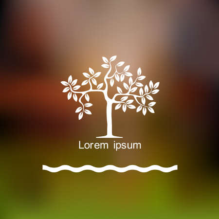 Stylized tree  Vector background Illustration