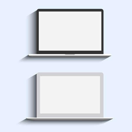 Two Laptops  Vector set Vector