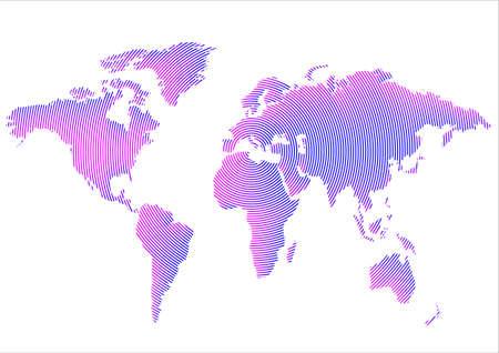 Creative World Map. Vector illustration