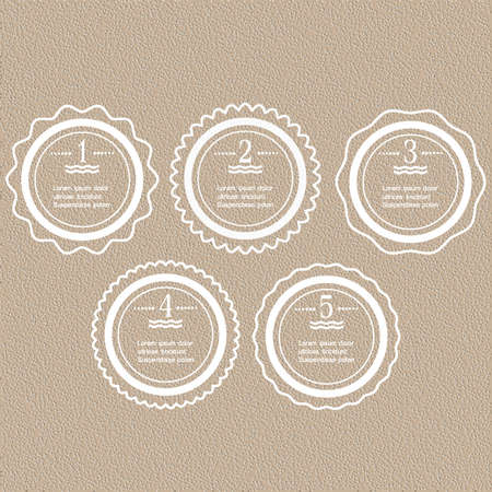White round banners-options for infographics design. Vector set Vector