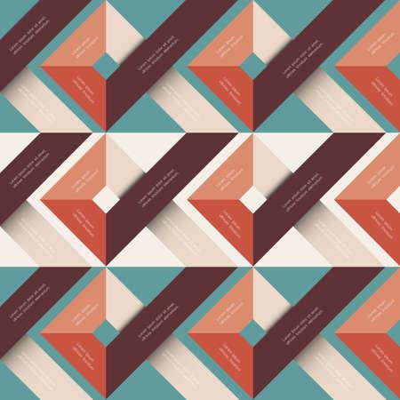 ビンテージ: 幾何学的図形と抽象的な背景。