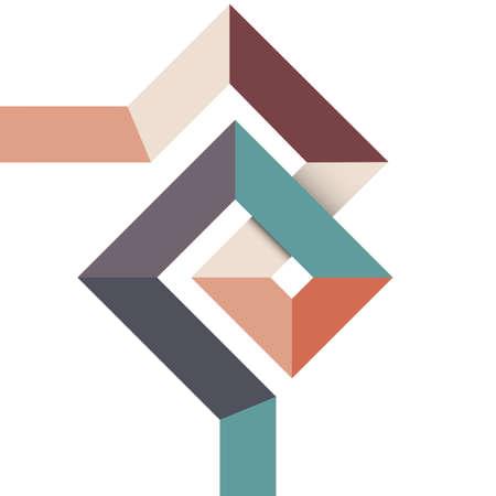Geometric abstract minimalistisches Design. Standard-Bild - 21722866