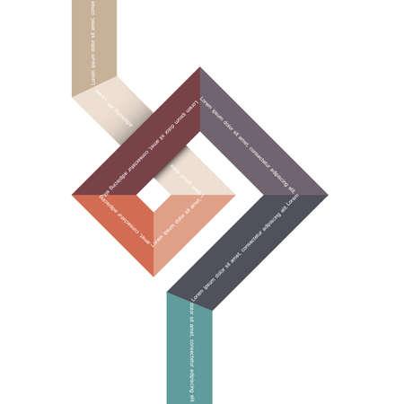 abstract: Geometrische abstracte vorm voor design. Stock Illustratie