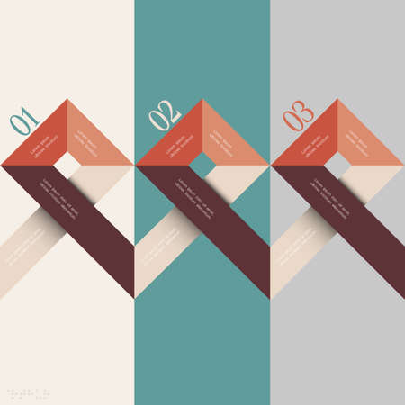 Minimal infographics design. Vector illustration Stock Vector - 21722881