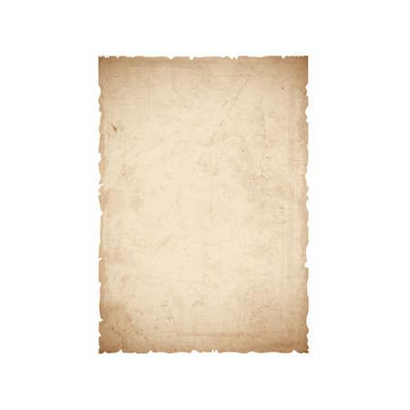 Hoja de papel viejo. Ilustración de vector