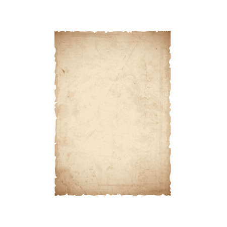 papel quemado: Hoja de papel viejo. Vectores