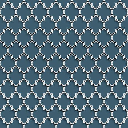 이슬람 스타일의 3D 원활한 패턴입니다. 벡터 배경 일러스트