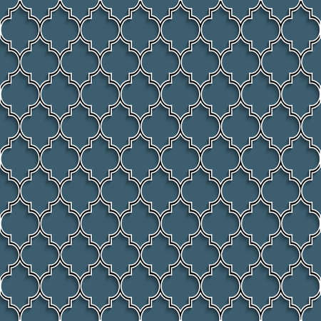 3d seamless pattern in islamic style. Vector background  Ilustração