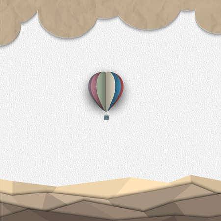 papercraft: Hot air balloon from paper.