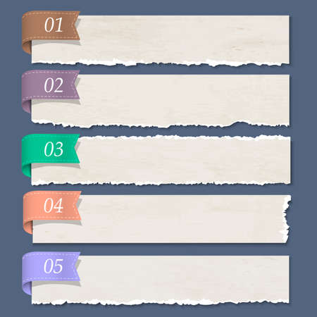 Heftiges Papier nummeriert Banner. Standard-Bild - 21947253