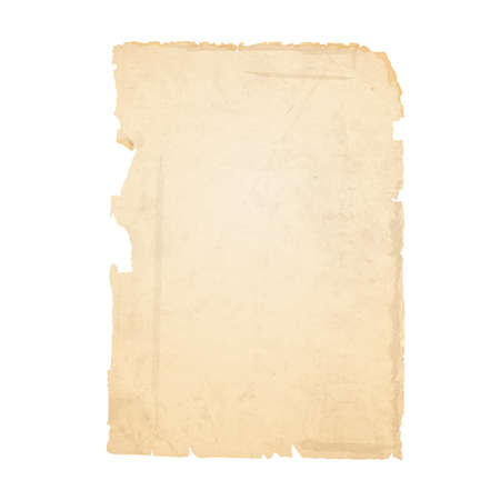古い紙の破れたシート。  イラスト・ベクター素材