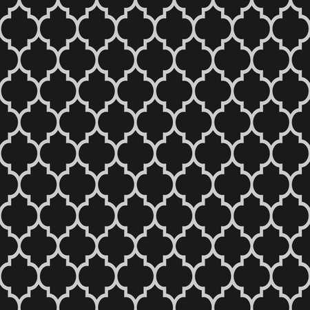 黒と白のイスラムのシームレスなパターン ベクトルの背景