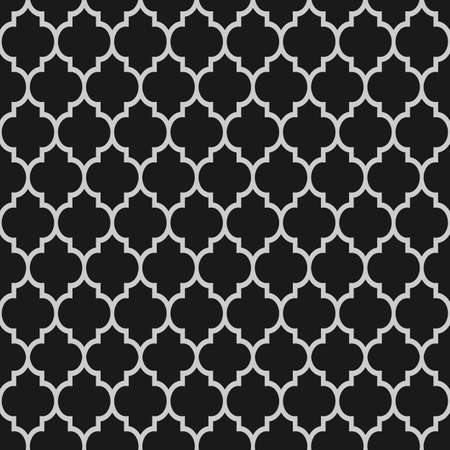 Black and white islamic seamless pattern  Vector background  Ilustrace
