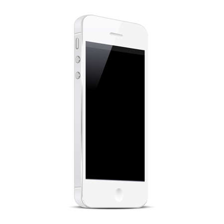 pda: White Smart Phone isolated on white background  Vector EPS10