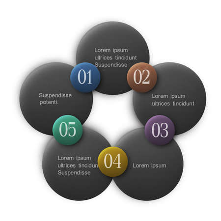 three pointer: Buttons options - infographics design.   Illustration