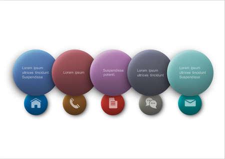 infocharts: Buttons web design.   Illustration