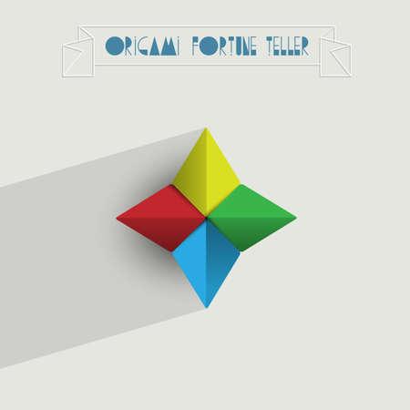 fortune teller: Origami Fortune Teller