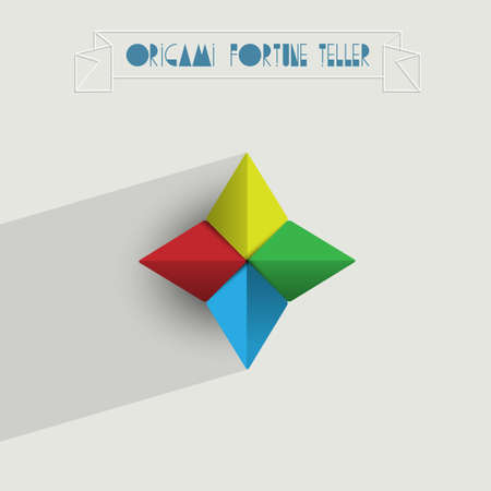 Origami Wahrsagerin Vektorgrafik