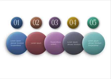 Vector buttons options - infographics design Stock Vector - 22681636