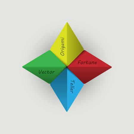 fortune teller: Vector origami Fortune Teller