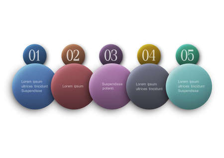 Buttons options - vector infographics design  Vector