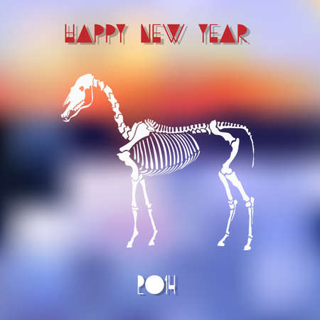 Creative vector illustration for Year of Horse Vector