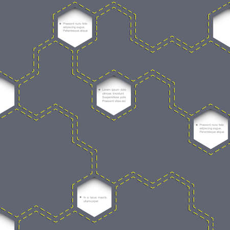 Geometric simple background with hexagons. Vector EPS10 Vector