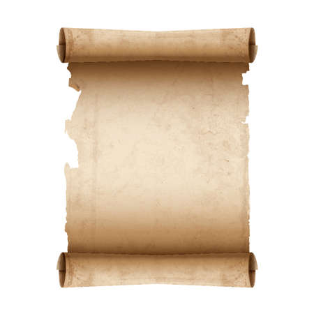 Vector ancient scroll paper  イラスト・ベクター素材