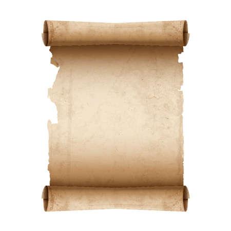 벡터 고대의 스크롤 종이