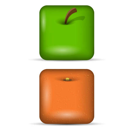 Vector set 1 of app icons-fruits