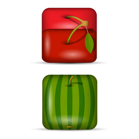 Vector set 2 of app icons-fruits  Vector
